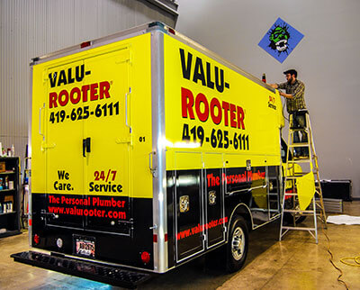 Valu-Rooter Truck Wraps Image - My Gorilla Graphics
